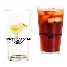 North Carolina Chick Drinking Glass