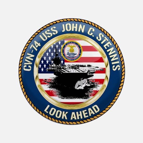 """CVN-74 USS John C. Stennis 3.5"""" Button"""