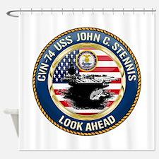 CVN-74 USS John C. Stennis Shower Curtain