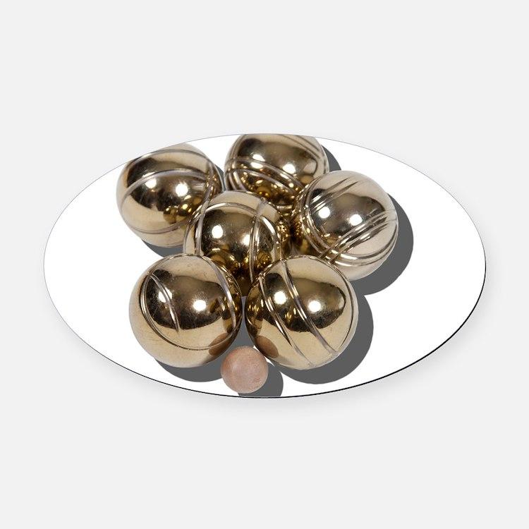 BocceBalls030111.png Oval Car Magnet