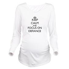 Cute Bravado Long Sleeve Maternity T-Shirt