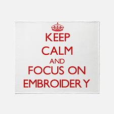 Cool Keep calm and crochet Throw Blanket