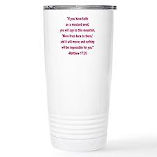 wdJs faith as a mustard Travel Mug