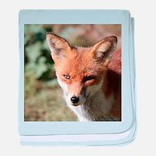 Cute Fox head baby blanket