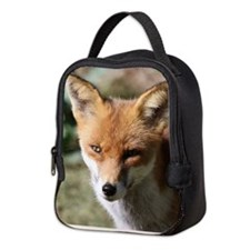 Cute Fox head Neoprene Lunch Bag