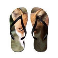 Cute Fox head Flip Flops