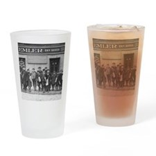 Delivering the Sunday Papers, 1909 Drinking Glass