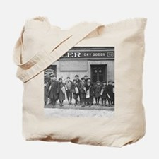 Delivering the Sunday Papers, 1909 Tote Bag
