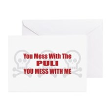Mess With Puli Greeting Cards (Pk of 10)
