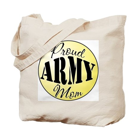 Proud Army Mom (yellow) Tote Bag