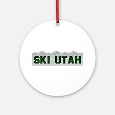 Ski Utah Ornament (Round)