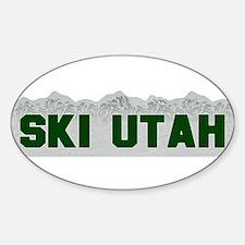 Ski Utah Oval Decal