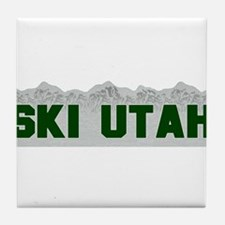 Ski Utah Tile Coaster