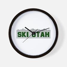 Ski Utah Wall Clock