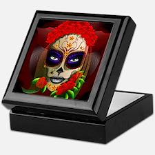 Skull Girl Dia de los Muertos Keepsake Box