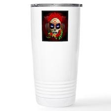 Skull Girl Dia de los Muertos Travel Mug
