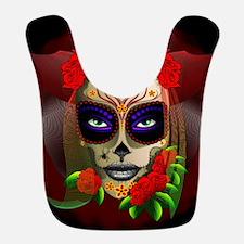 Skull Girl Dia de los Muertos Bib