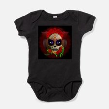 Skull Girl Dia de los Muertos Baby Bodysuit