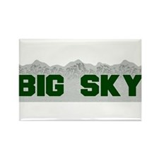 Big Sky Rectangle Magnet