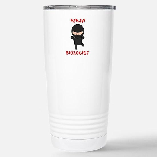 Ninja Biologist Stainless Steel Travel Mug