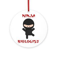 Ninja Biologist Ornament (Round)
