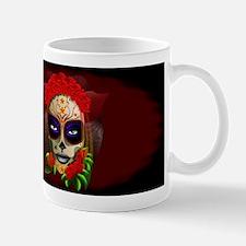 Skull Girl Dia de los Muertos Mugs
