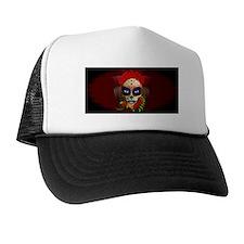 Skull Girl Dia de los Muertos Trucker Hat