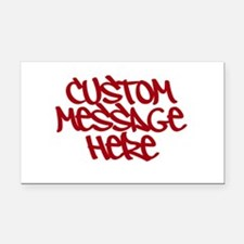 Custom Message Design Rectangle Car Magnet