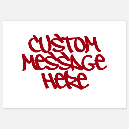 Custom Message Design Invitations