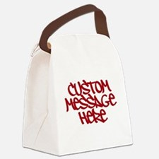 Custom Message Design Canvas Lunch Bag