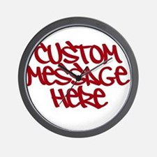 Custom Message Design Wall Clock