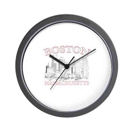Boston, Massachusetts Wall Clock