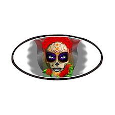 Skull Girl Dia de los Muertos Patches
