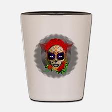 Skull Girl Dia de los Muertos Shot Glass
