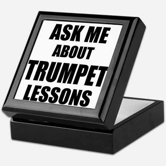 Ask me about Trumpet lessons Keepsake Box