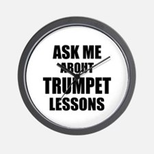 Ask me about Trumpet lessons Wall Clock