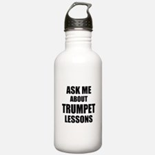 Ask me about Trumpet lessons Water Bottle