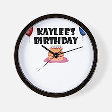 Kaylee's Birthday Wall Clock