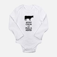 Keep Calm and Hug a Heifer Body Suit