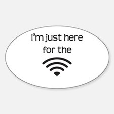 I'M JUST HERE FOR THE WIFI Decal