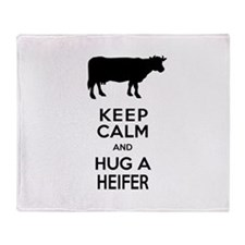 Cute Keep calm and Throw Blanket