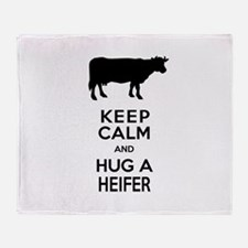 Cute Farmer Throw Blanket