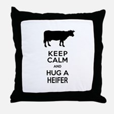 Cute Dairy cow Throw Pillow