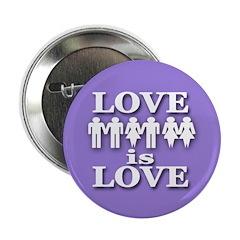 Love is Love (Metal Pinback Button)