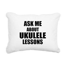 Ask me about Ukulele lessons Rectangular Canvas Pi
