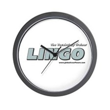 Lingo Support Wall Clock
