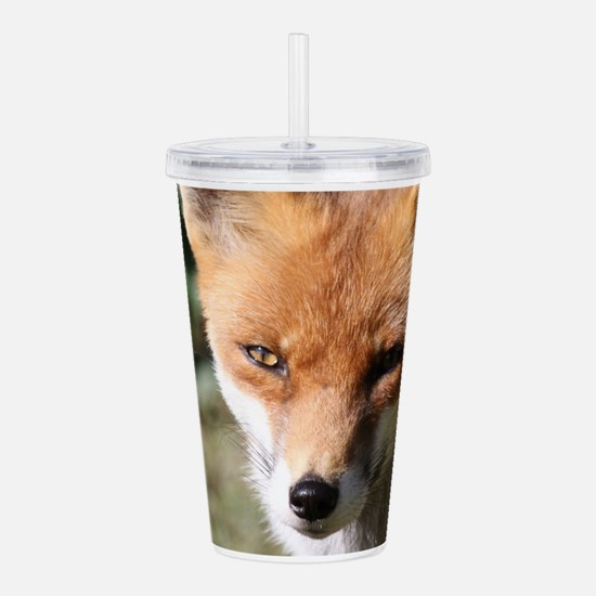 Cute Fox head Acrylic Double-wall Tumbler