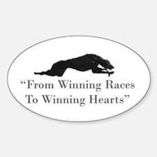 Winning Hearts Sticker (Oval)