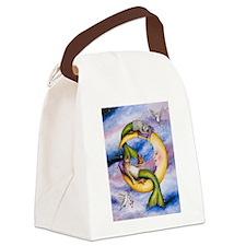 Funny Mermaid fantasy Canvas Lunch Bag