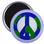 Earth Peace Sign Magnet